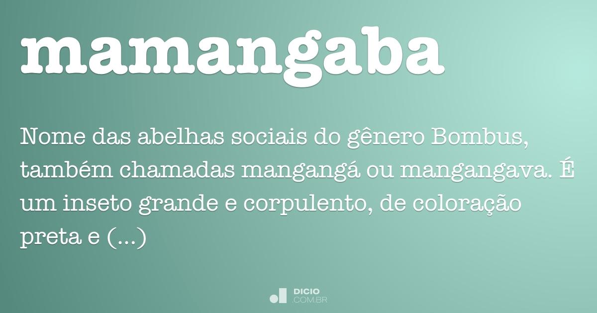 mamangaba dicio dicionário online de português