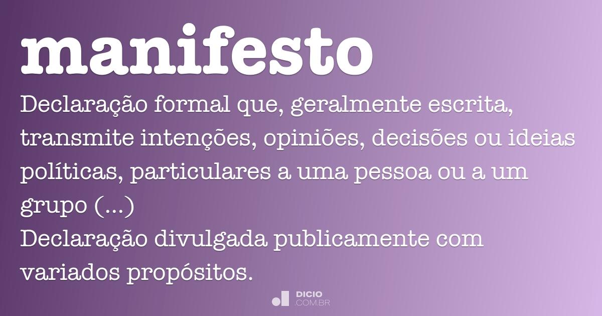 Manifesto Image: Dicio, Dicionário Online De Português