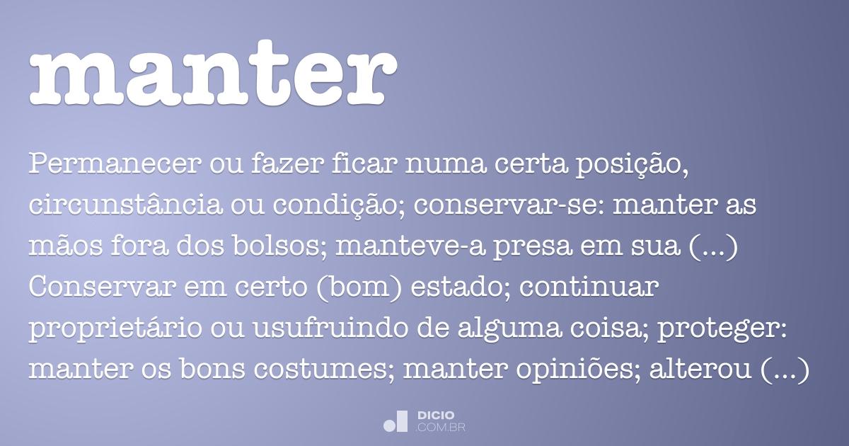 Manter Dicio Dicionário Online De Português