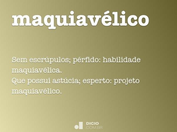 maquiav�lico