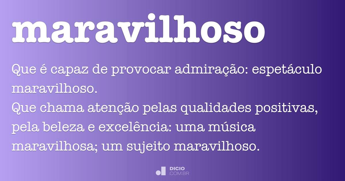 Maravilhoso Dicio Dicionário Online De Português