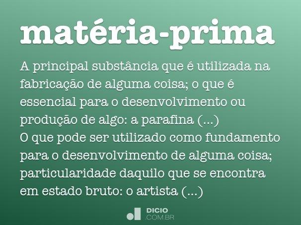 mat�ria-prima