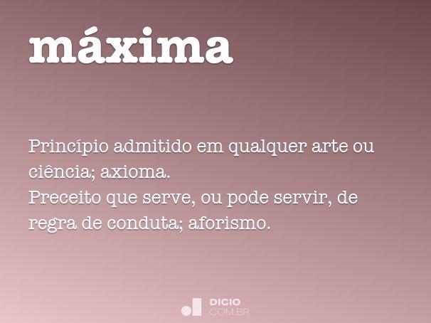 m�xima