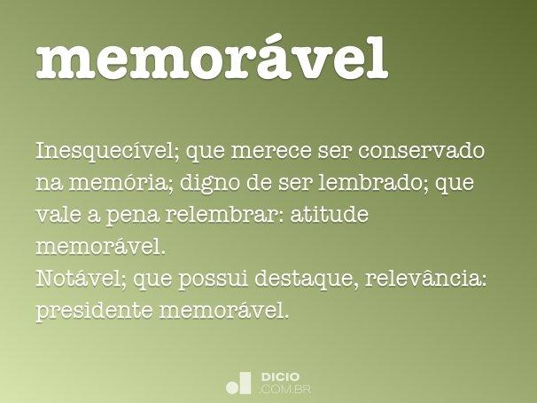 memor�vel