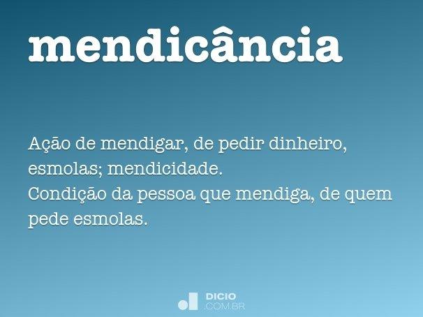 mendicância