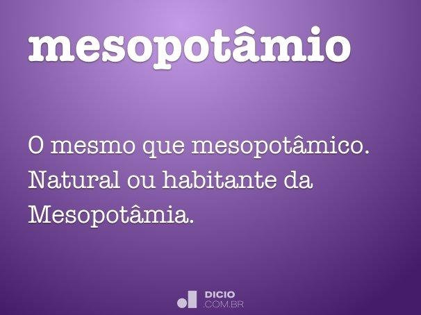mesopotâmio