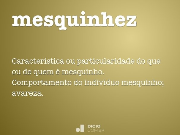 mesquinhez
