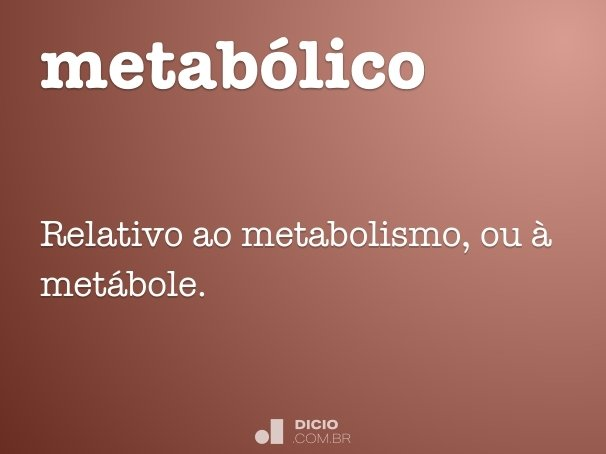 metab�lico