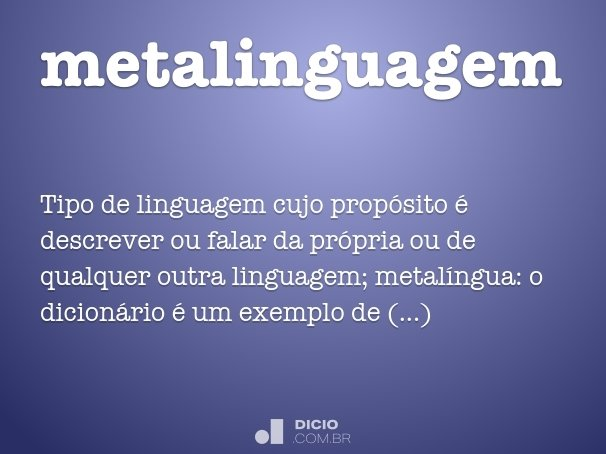 metalinguagem