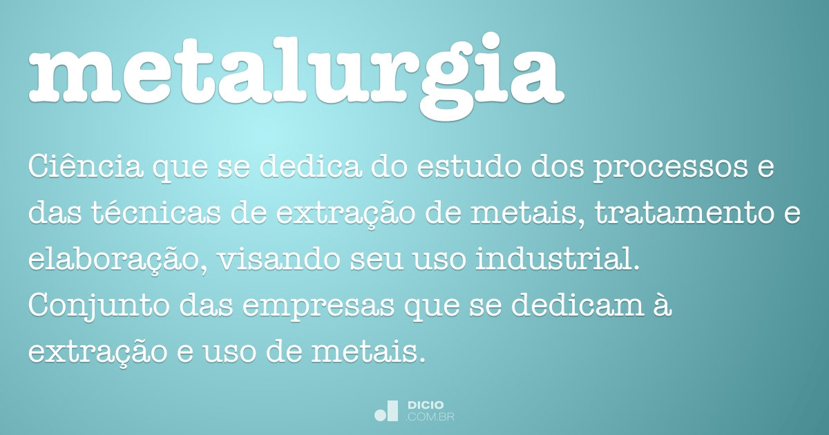 METALURGIA SIGNIFICADO EBOOK DOWNLOAD