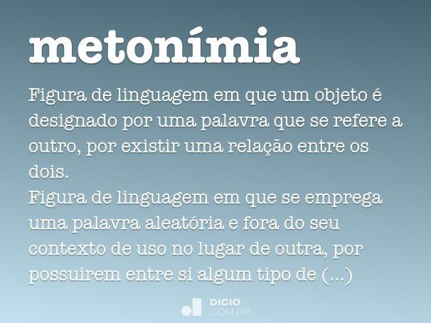 metonímia