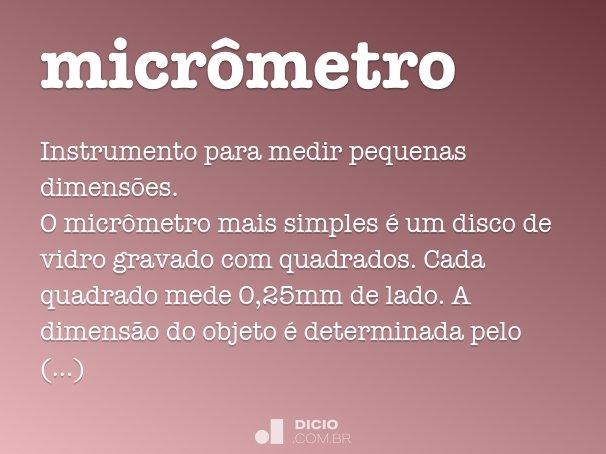 micrômetro