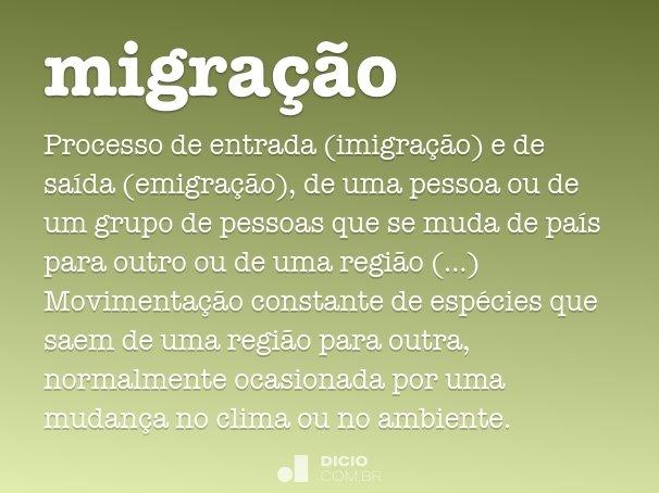 migra��o