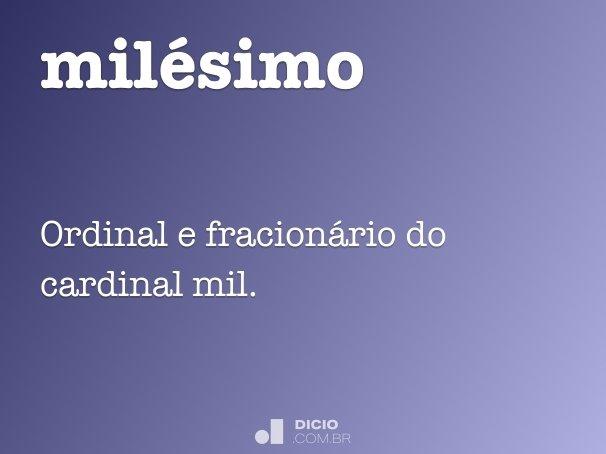 milésimo