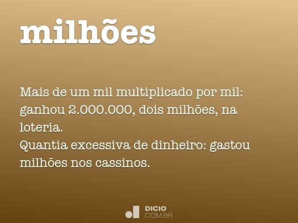 milhões
