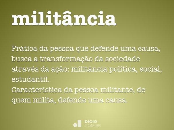 milit�ncia