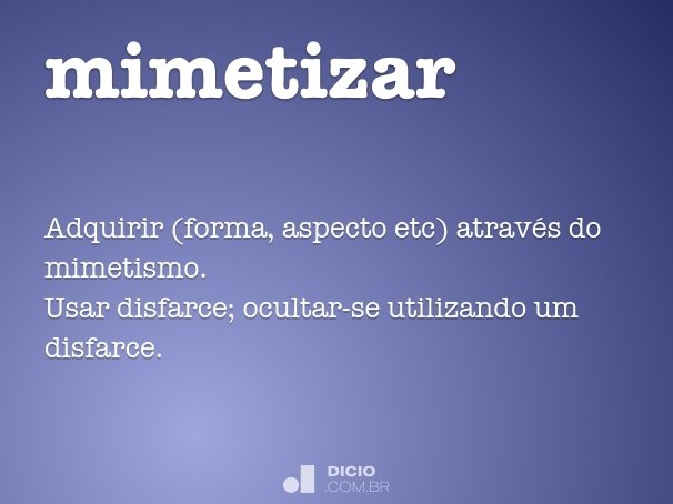 mimetizar