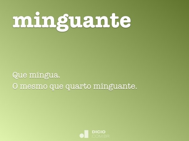 minguante