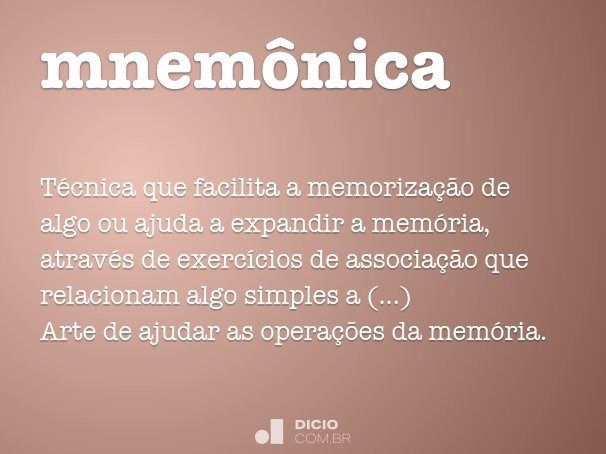 mnemônica