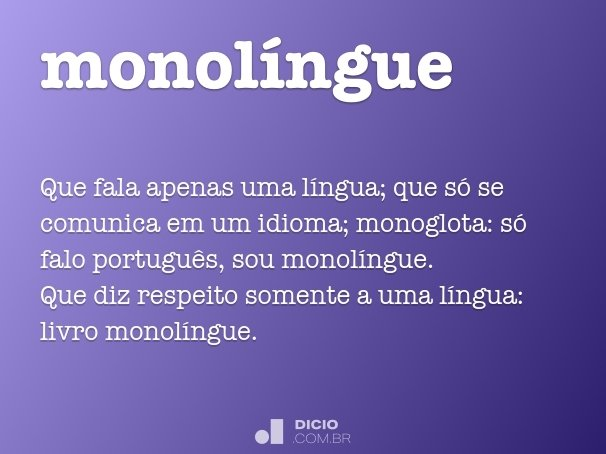 monolíngue