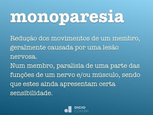 monoparesia
