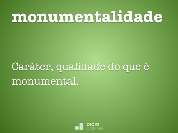 monumentalidade