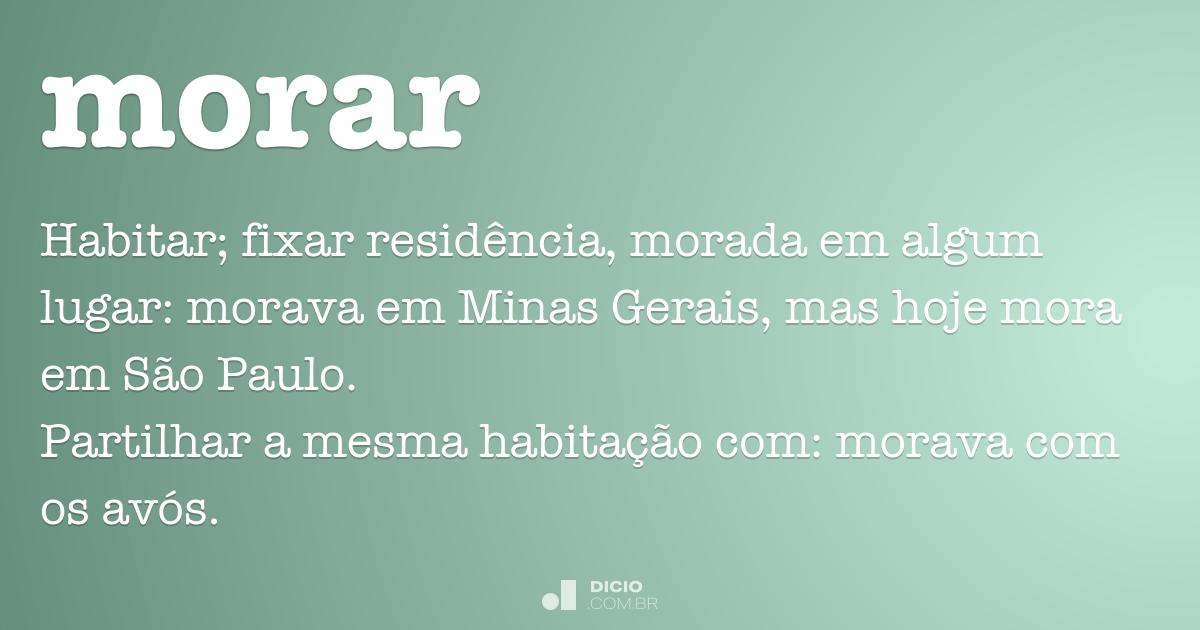 morar dicio dicion rio online de portugu s