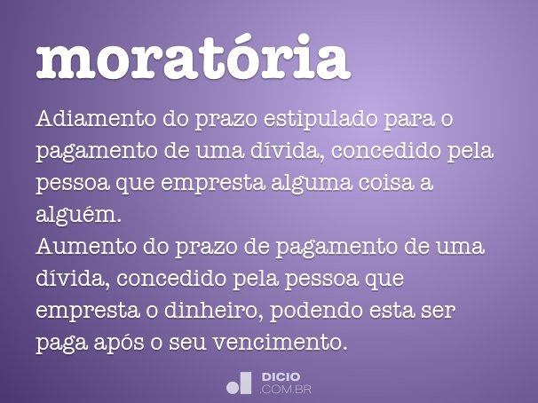 morat�ria