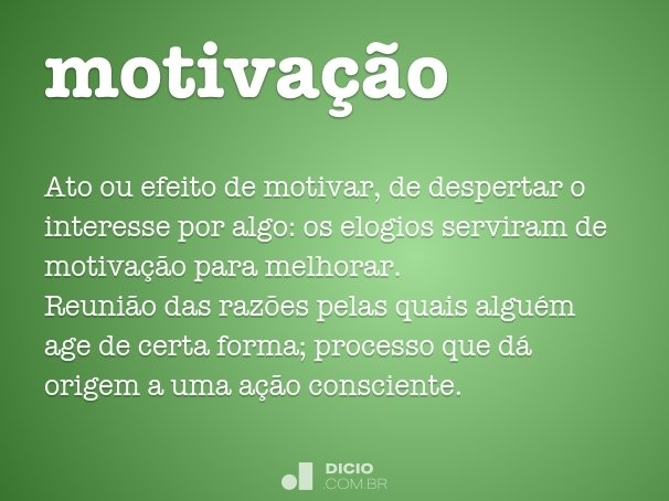 motiva��o