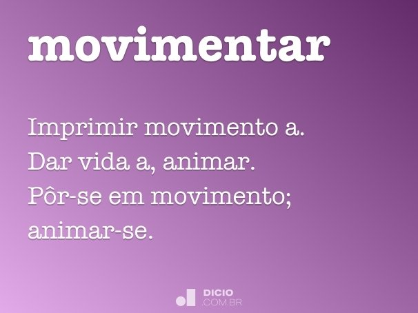movimentar