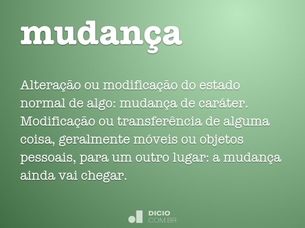 mudan�a