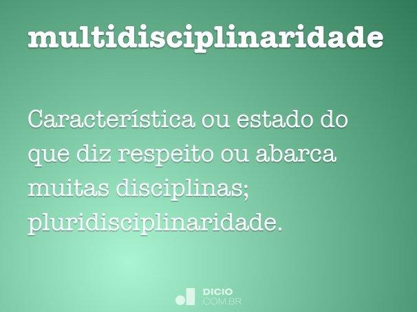 multidisciplinaridade