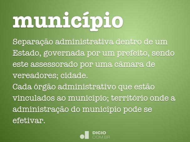 município