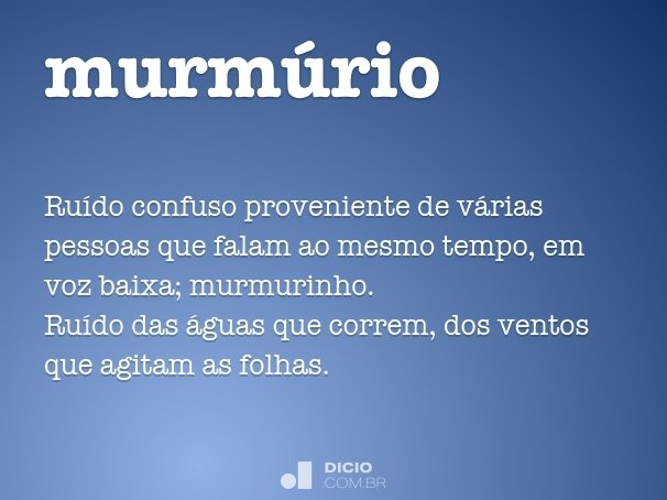 murm�rio