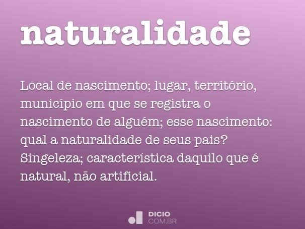naturalidade