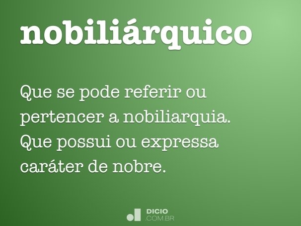nobiliárquico