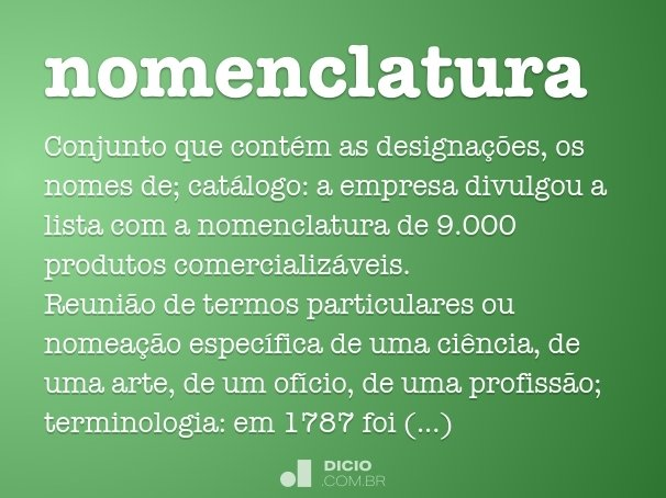 nomenclatura