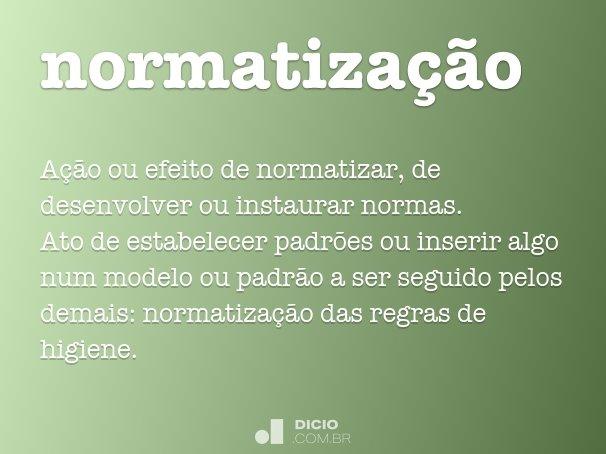 normatiza��o