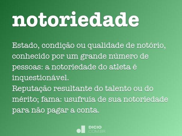 notoriedade