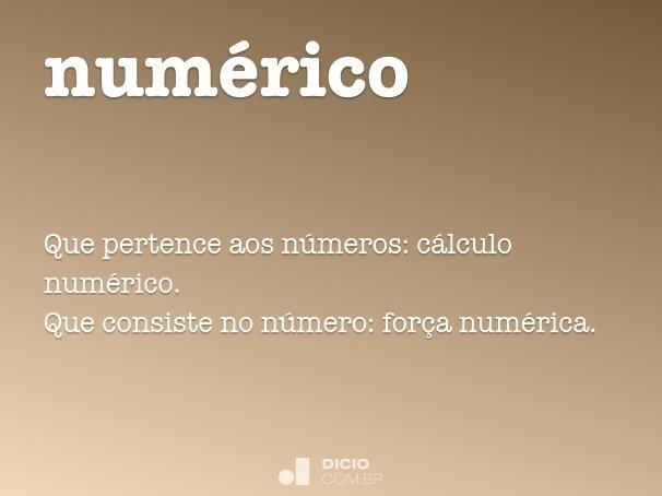 num�rico