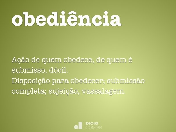 obedi�ncia