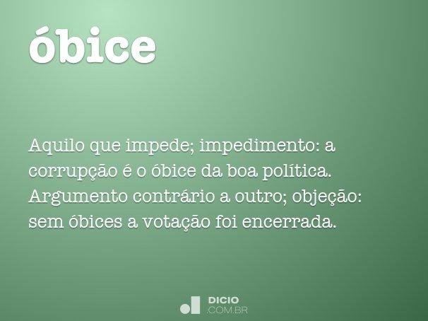 óbice
