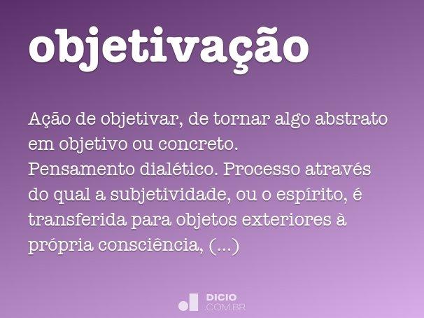 objetiva��o