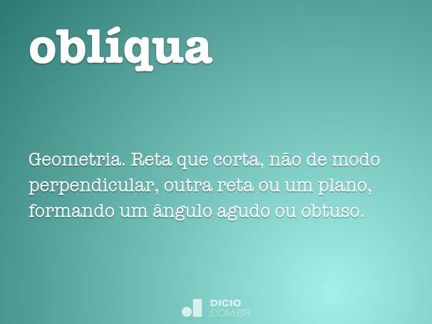 obl�qua