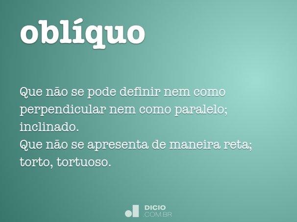 obl�quo