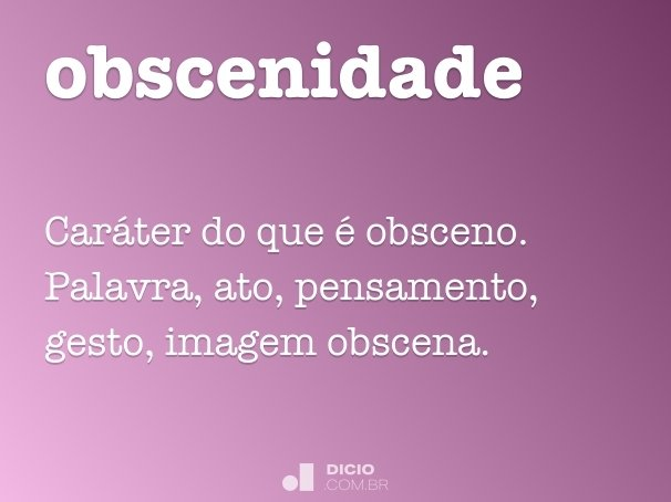 obscenidade