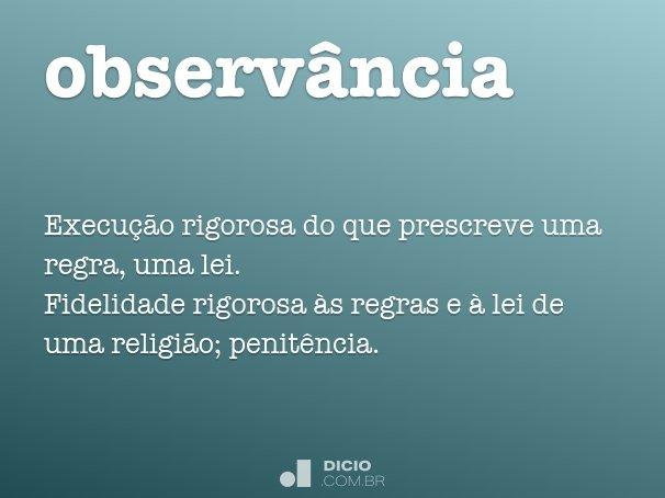 observância