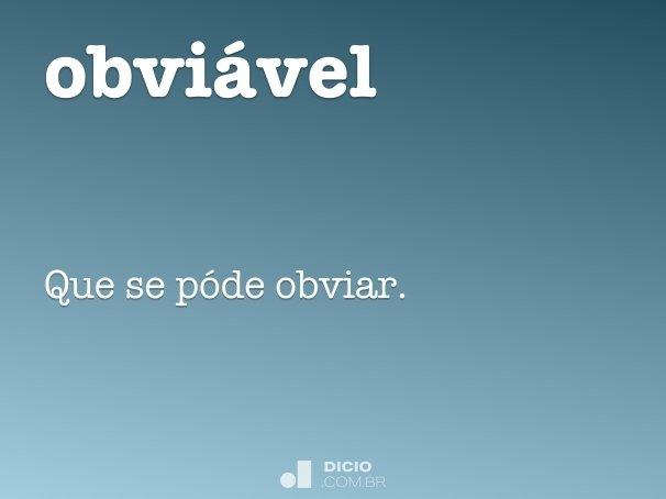 obvi�vel