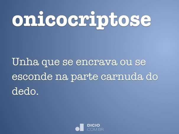 onicocriptose