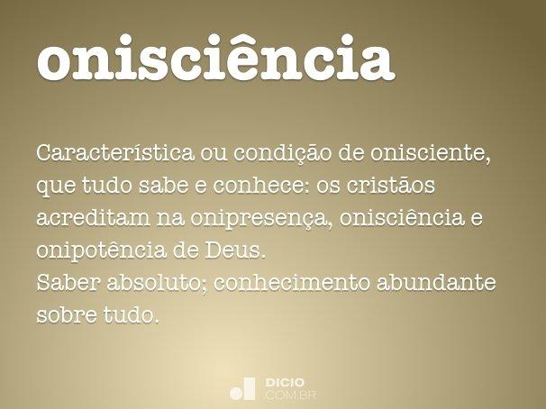 onisci�ncia